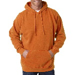 Adult Hooded Garment-Dyed Blended Sweatshirt