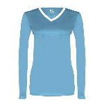 Ladies Core Performance Dig Long-Sleeve Tee with Contrast Sleeve Panels