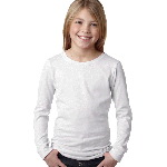Girls Princess Long-Sleeve Cotton Tee