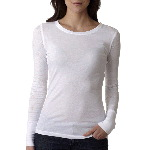 The Ladies� Cotton Burnout Combo Long-Sleeve Tee