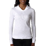 Ladies� Soft Thermal Poly/Cotton Hoodie