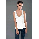 Cotton Spandex Jersey Merrow Edge Tank