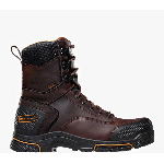 "Adamas� 8"" Brown Plain Toe Work Boots"