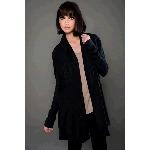eco-HYBRID� Spandex Jersey Long Sleeve Shawl Cardigan with Hood