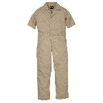 Poplin Unlined Coverall, Short Sleeve