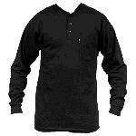 Heavyweight Henley T-Shirt, Long Sleeve