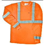 ANSI III Class 3 Hi-Visibility Pocket T-Shirt Long Sleeve