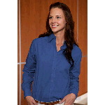 Taylor Ladies Long Sleeve Broadcloth Cross Weave