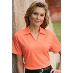 Bartow Ladies V-Neck Pique Polo