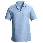 Womens Short Sleeve Smock,Gripper Front