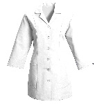 Womens Fitted 3/4 Sleeve Smock