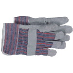 Leather Gunn Pattern Glove, Knuckle Strap, Canvas Back, Safety Cuff<BR><B>Priced per dozen</B>
