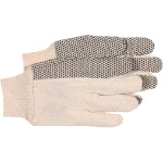 Mens Plastic Dotted Flannel Gloves - Dozen
