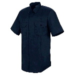 Short Sleeve Concealed Button Front