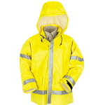Mens Hi-Visiblity Flame Resistant Rain Jacket