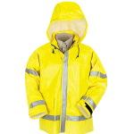 Mens Hi-Visiblity Flame Resistant Rain Jacket