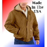 100% Cotton Flame Resistant Duck Active Jacket, Quilt Lined