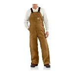 100% Cotton Flame-Resistant Duck Bib Overall, Lined